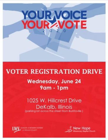 League of Women Voters to host voter registration drive