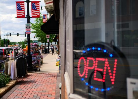 DeKalb businesses begin to re-open and offer outdoor shopping and dining in downtown DeKalb.
