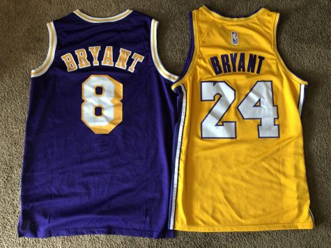 "Kobe Bryant wore ""8"" from 1996-2006, and ""24 from 2006-2016."