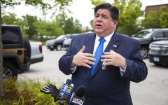 In this Aug. 10, 2020 file photo, Gov. J.B. Pritzker responds to questions during news conference in Chicago. Illinois tweaked how business owners seeking recreational marijuana licenses can apply following complaints that the process favored politically connected and rich applicants over minorities and veterans who were supposed to benefit. Pritzker, a first-term Democrat, was expected to discuss the changes at a Tuesday, Sept. 22, 2020, news conference.
