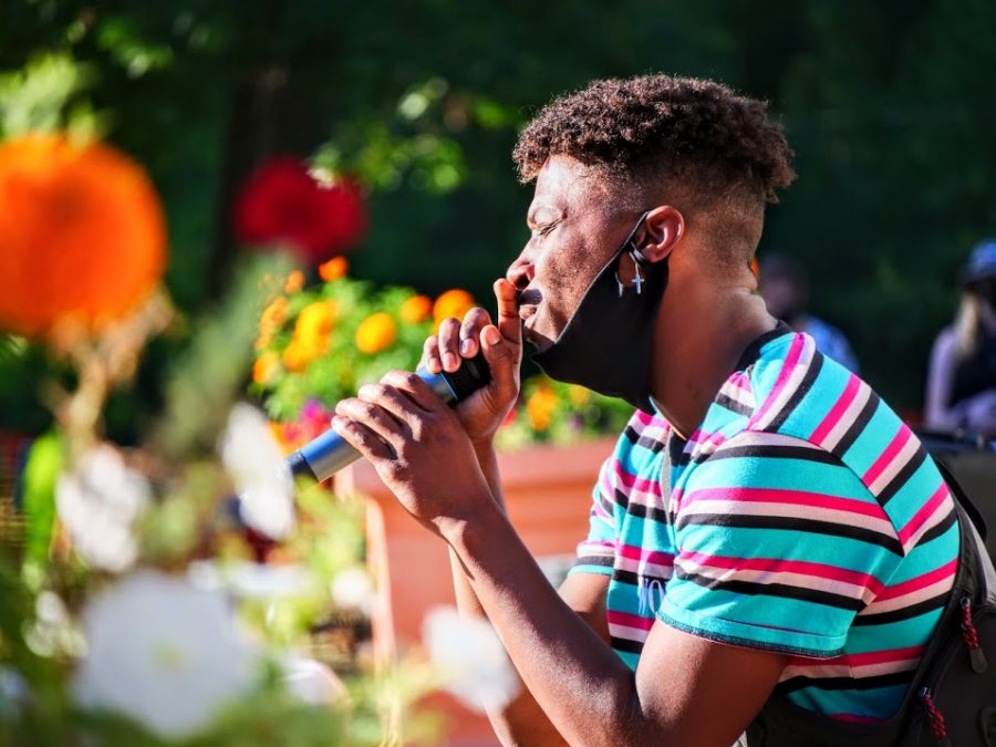 J. Royal performing at An Evening for Black Lives