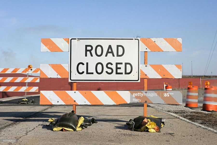 Road closed - Getty Images