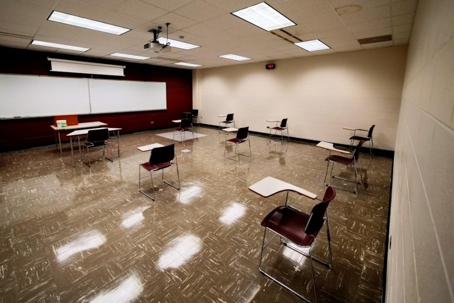 Empty classroom in Dusable