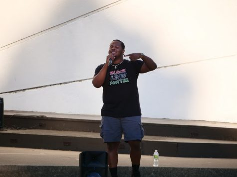 Visionary J performing at An Evening for Black Lives