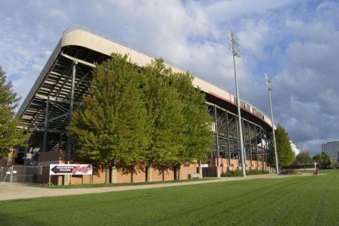 View of the East side of Huskie Stadium Sept. 24, 2019 in DeKalb.