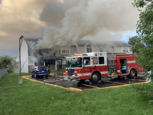 Multiple fire departments respond to apartment fire on Hillcrest Drive