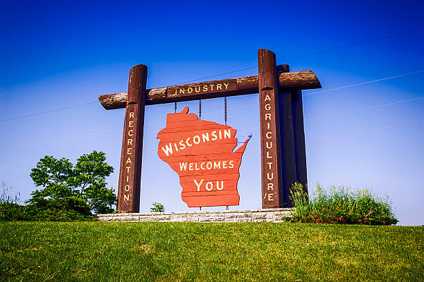 Wisconsin welcome sign.
