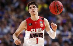 FILE - In this Nov. 17, 2019, file photo, LaMelo Ball of the Illawarra Hawks brings the ball up during a game against the Sydney Kings in the Australian Basketball League in Sydney. LaMelo Ball is expected to be one of the top picks in the NBA Draft, Wednesday, Nov. 18, 2020.