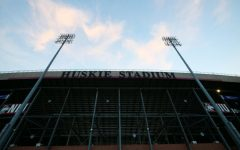 Huskie Stadium Aug. 12,  from the East entrance.
