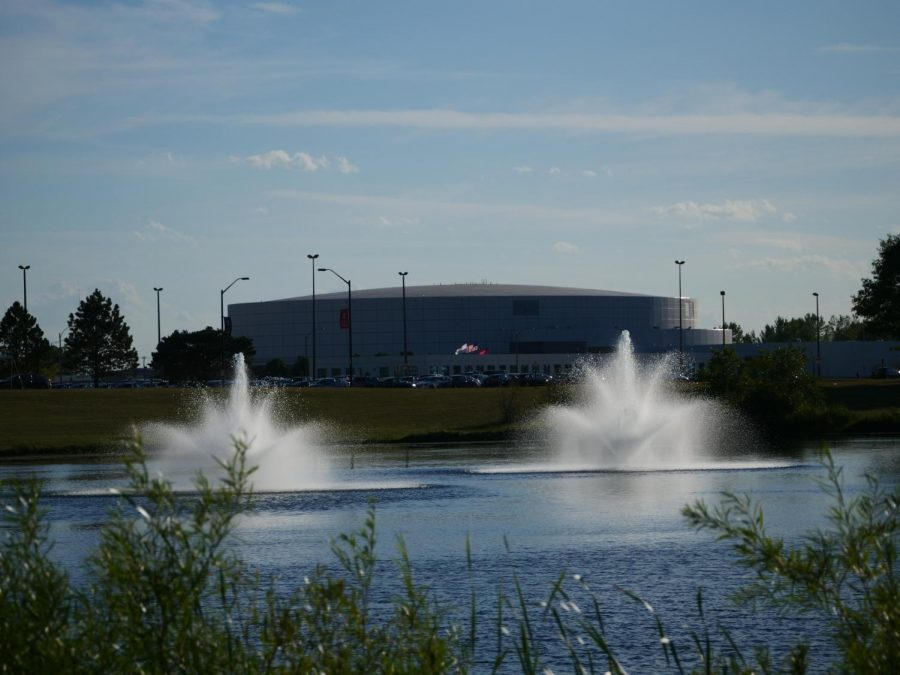 View of the north side of  the NIU Convocation Center Sept. 2, in DeKalb.