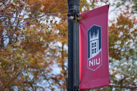 NIU street sign on Oct. 13.