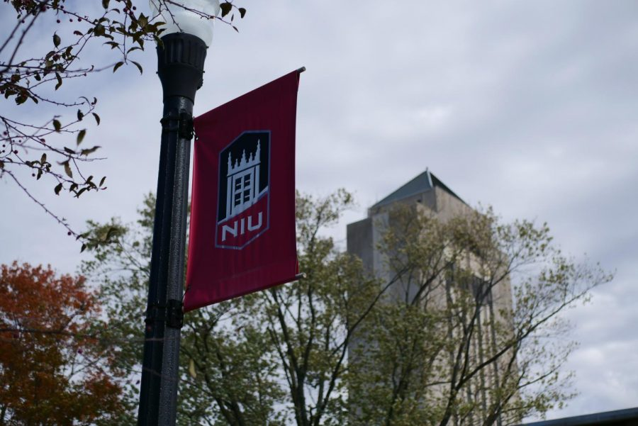 NIU sign on Oct. 13.