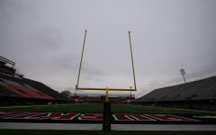 View of the south Huskie Stadium goal post Oct. 19, at Huskie Stadium in DeKalb.