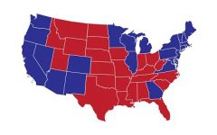 2020 Election Electoral College map.