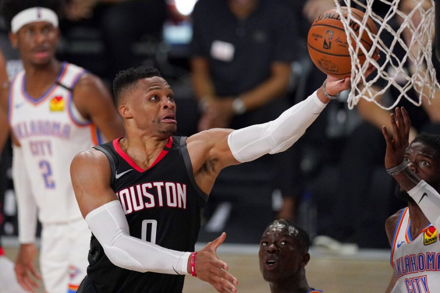 FILE+-+In+this+Wednesday%2C+Sept.+2%2C+2020+file+photo%2C+Houston+Rockets%27+Russell+Westbrook+%280%29+goes+up+for+a+shot+as+Oklahoma+City+Thunder%27s+Nerlens+Noel%2C+right%2C+defends+during+the+second+half+of+an+NBA+first-round+playoff+basketball+game+in+Lake+Buena+Vista%2C+Fla.+The+Houston+Rockets+have+traded+Russell+Westbrook+to+the+Washington+Wizards+for+John+Wall+and+a+future+lottery-protected.+first-round+pick.+%0ABoth+teams+announced+the+trade+Wednesday+night%2C+Dec.+2%2C+2020.