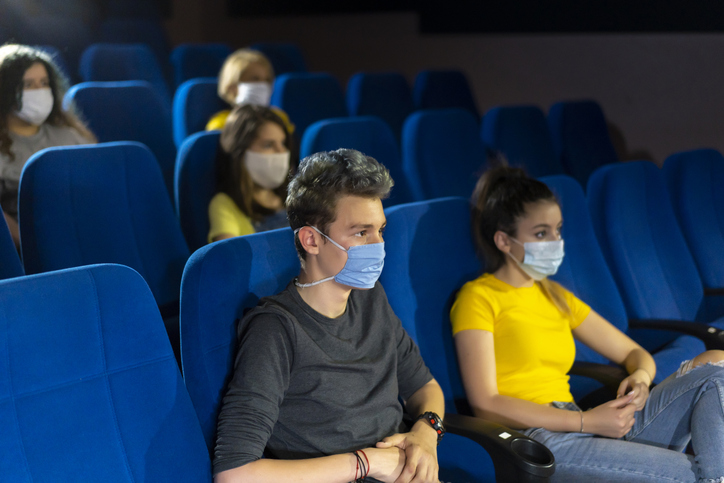 Spectators in cinema