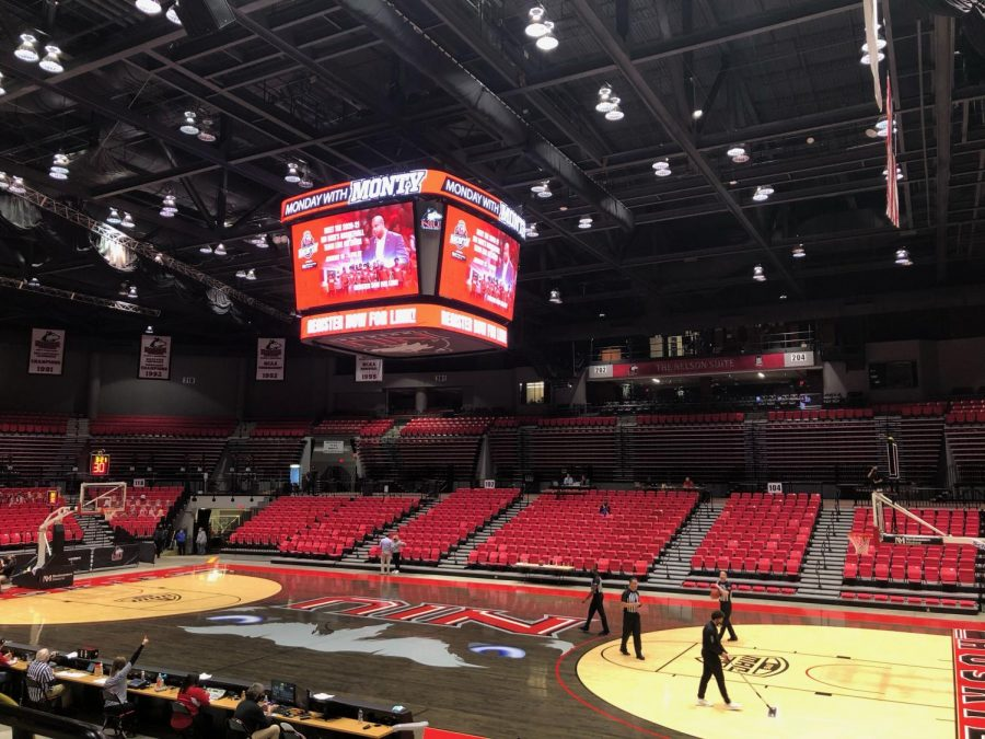Halftime at the NIU Convocation Center Dec. 18, in DeKalb.