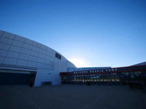 Entrance of the NIU Convocation Center, 1525 W. Lincoln Highway, on Sept. 2, in DeKalb.
