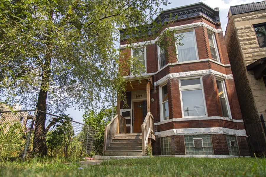 The former home of Emmett and Mamie Till at 6427 South St. Lawrence Avenue is in the West Woodlawn neighborhood of Chicago Aug. 26. The Chicago home of Emmett Till, the Black teenager whose 1955 lynching galvanized the civil rights movement, has been granted landmark status.