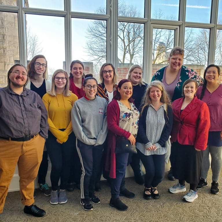 A group of students, faculty and staff who attended the NIU Board of Trustees meeting in support of the new Women and Gender Studies major 2020.
