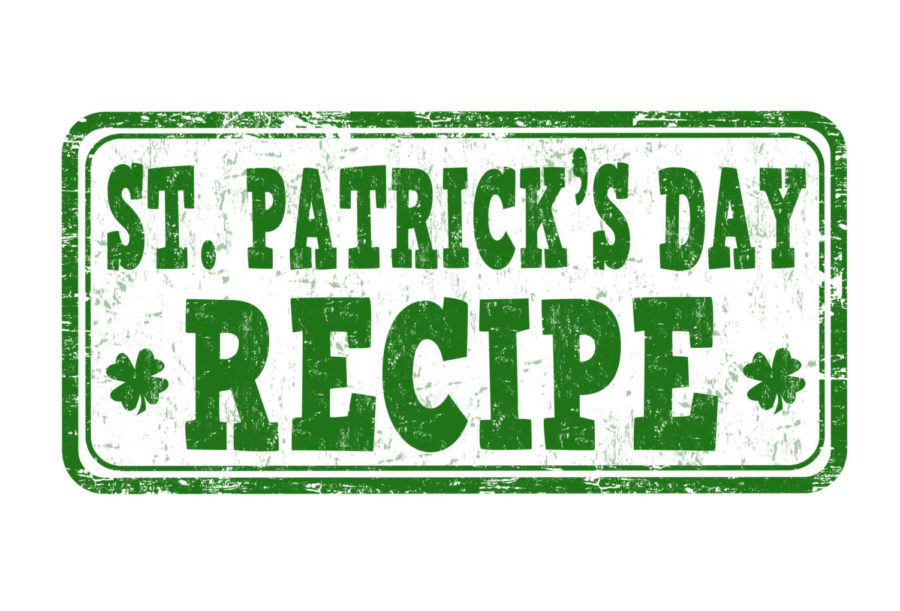 St. Patricks Day recipe stamp