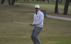 NIU junior Tommy Dunsire reacts to a putt lip-out Mar. 8 during the first round of the San Diego Classic at San Diego Country Club