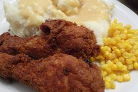 A plate with fried chicken, corn, mashed potatoes and gravy is available for order for drive-thru fundraiser.