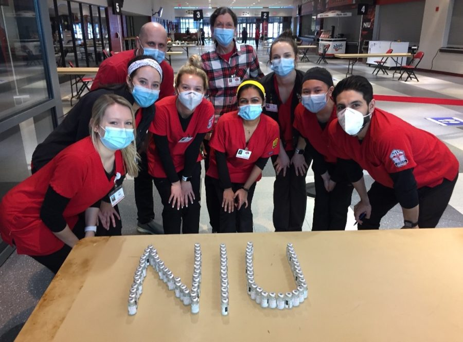 Nursing students were involved with distributing the COVID-19 vaccine at the Convocation Center.
