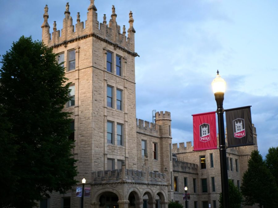 The+entrance+to+Altgeld+Hall+in+June+2020.+