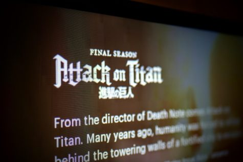 Attack on Titan information screen on Hulu