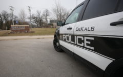 A DeKalb police officer fatally shot a man Monday morning after officers responded to a domestic violence call.