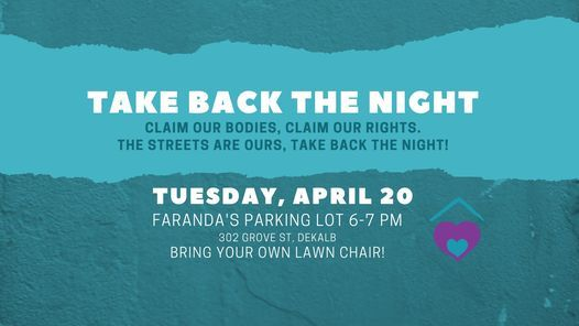 'Take Back the Night' event poster