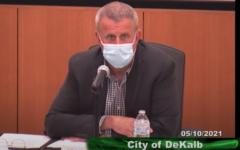 DeKalb Mayor Cohen Barnes at the May 10 City Council meeting.