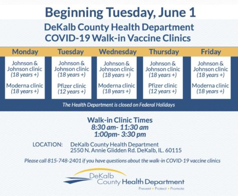 DeKalb to halt mass COVID-19 vaccination clinics, offers walk-in clincs