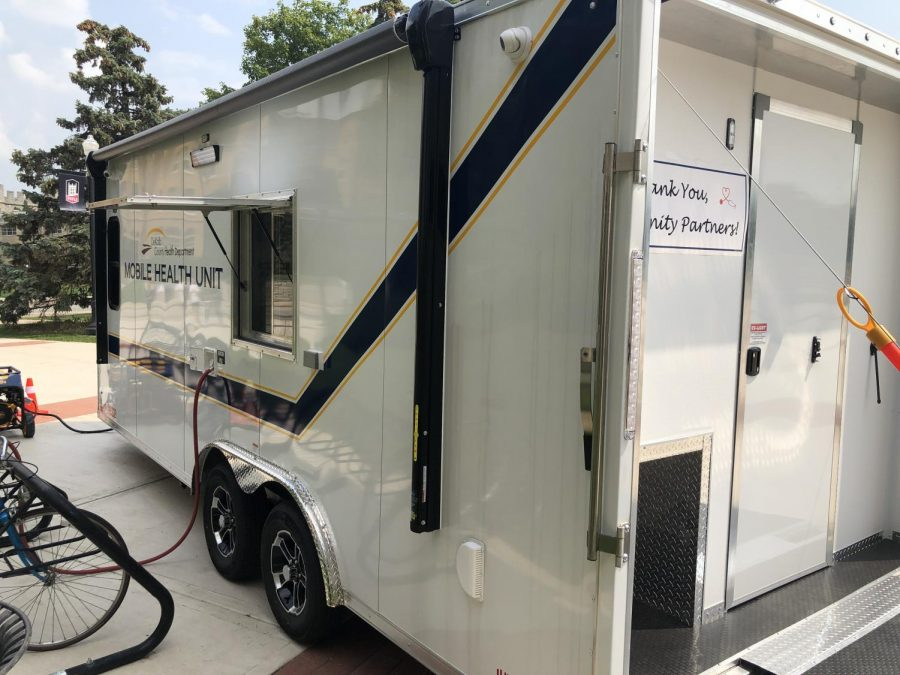 The Mobile Health unit will be parked in front of the DeKalb Health Department