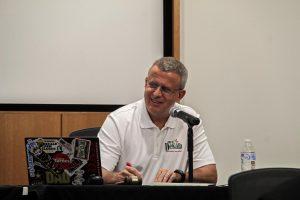 DeKalb mayor Cohen Barnes at the Aug. 23 City Council meeting.