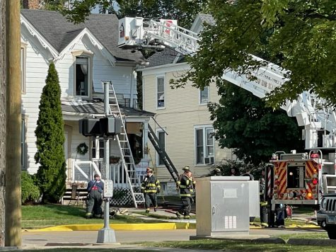 The DeKalb Fire Department responded to an apartment fire on North Fourth Street.