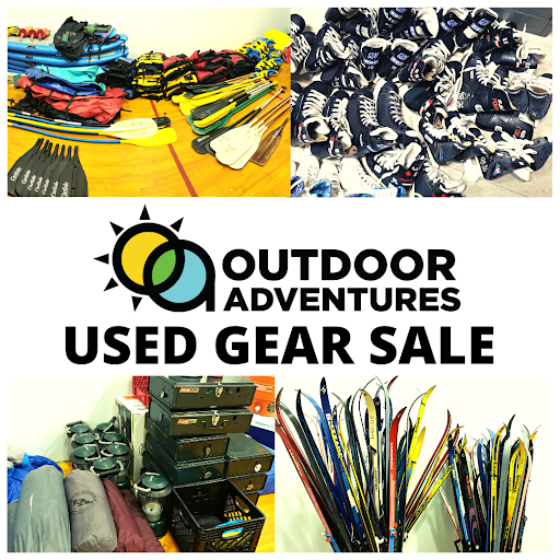 Event flyer for used gear sale.