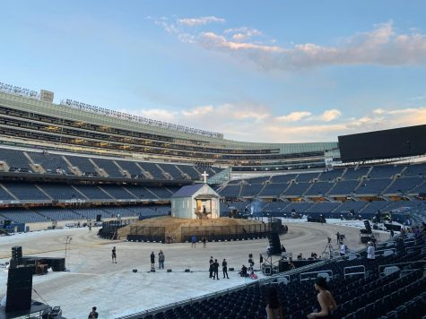 Donda experience live in Chicago at Soldier Field.