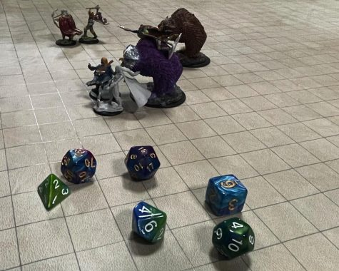 Pieces to the game Dungeons and Dragons