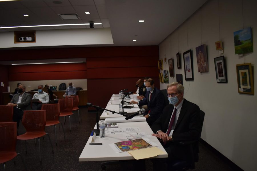 City Manager Bill Nicklas at the City Council meeting Monday, talking about redistricting the wards following the results of the 2020 Census.