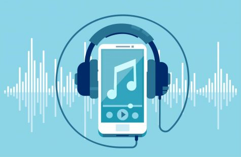 Music streaming from a cellphone.