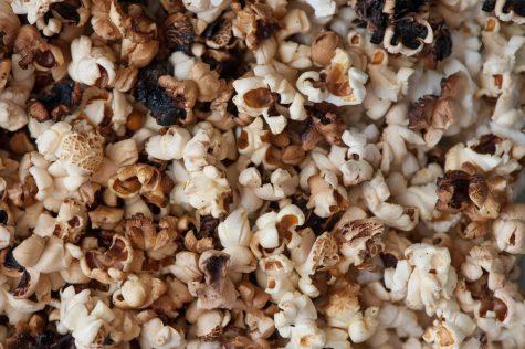 Burnt popcorn.